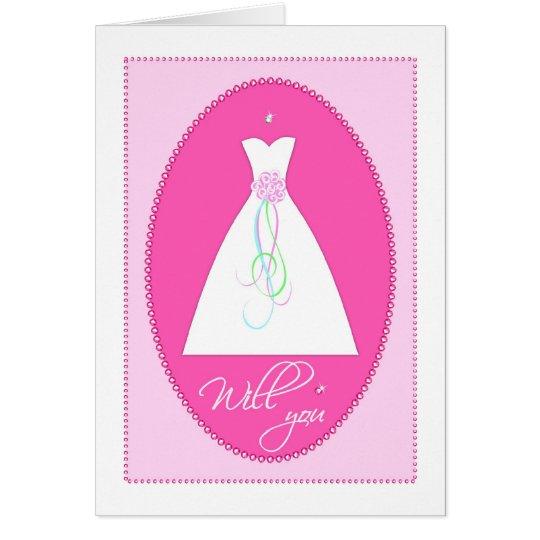 Will You? Wedding Attendant Invitation Card