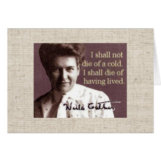 Willa Cather Stationery Note Card