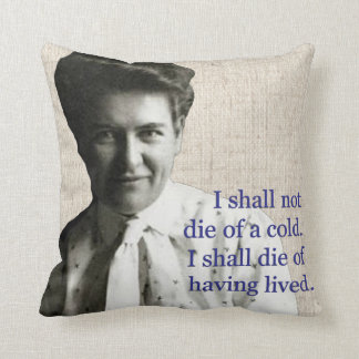 Willa Cather Throw Pillows