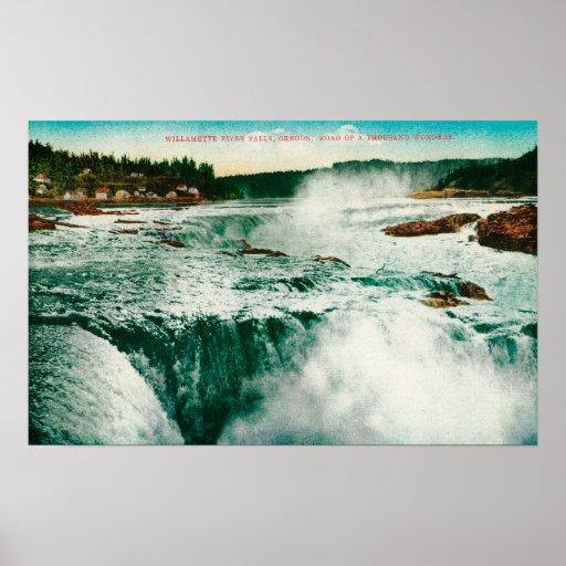 Willamette Falls in Portland Poster
