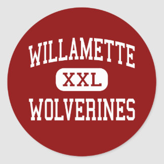 Willamette - Wolverines - High - Eugene Oregon Classic Round Sticker