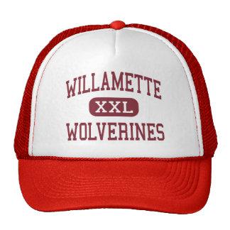 Willamette - Wolverines - High - Eugene Oregon Trucker Hat