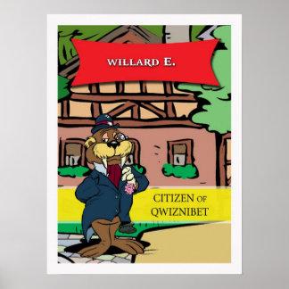 Willard E. Walrus | Classic Cartoon Poster