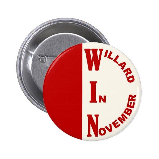 Willard en noviembre pin redondo de 2 pulgadas