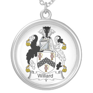 Willard Family Crest Silver Plated Necklace
