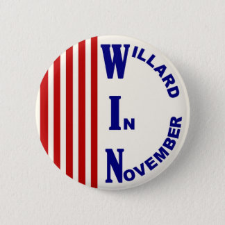 Willard In November Red, white & blue version Pinback Button
