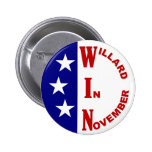 Willard In November with stars 2 Inch Round Button