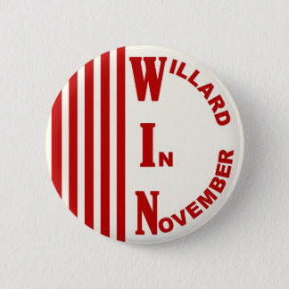 Willard In November with stripes Pinback Button
