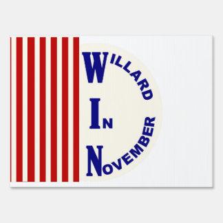 Willard (Mitt Romney) in November Sign