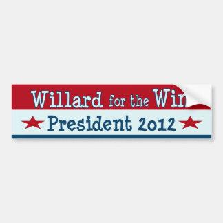 Willard para el triunfo - Mitt Romney divertido 20 Etiqueta De Parachoque