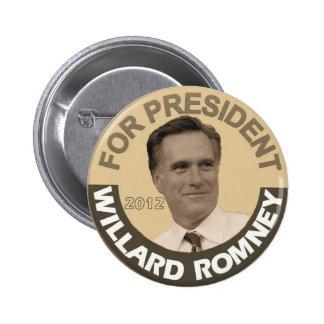 Willard Romney 2012 Pinback Button