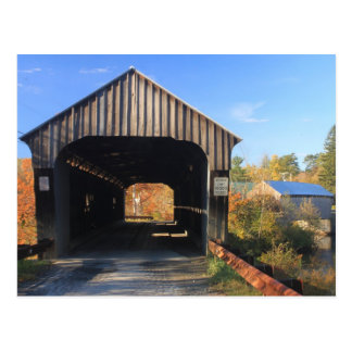 Willard Twin Covered Bridges Hartland Vermont Postcard