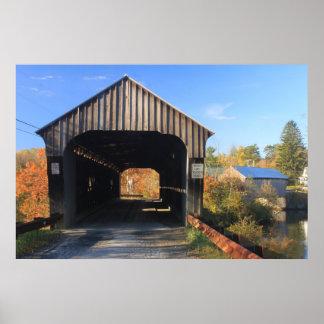 Willard Twin Covered Bridges Hartland Vermont Posters