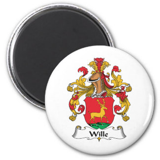 Wille Family Crest 2 Inch Round Magnet