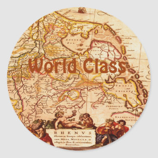 Willem Blaeu Old Rhineland Germanic Map Series Classic Round Sticker