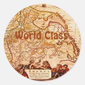 Willem Blaeu Old Rhineland Germanic Map Series Classic Round Sticker