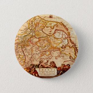 Willem Blaeu Old Rhineland Germanic Map Series Pinback Button