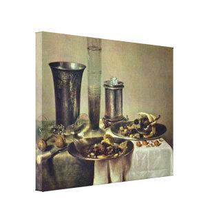 Willem Claeszoon Heda - postre Impresión En Lona Estirada