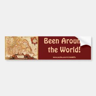 Willem Janszoon Blaeu Old German Map Collection Bumper Sticker