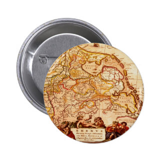 Willem Janszoon Blaeu Old German Map Collection Button