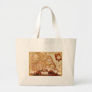 Willem Janszoon Blaeu Old German Map Collection Jumbo Tote Bag