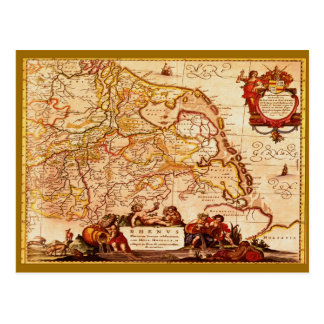 Willem Janszoon Blaeu Old German Map Collection Postcard