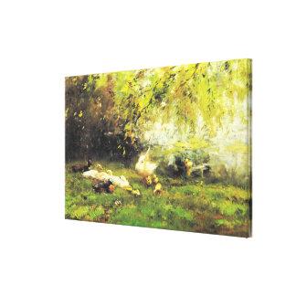 Willem Maris - Duck heaven Canvas Prints