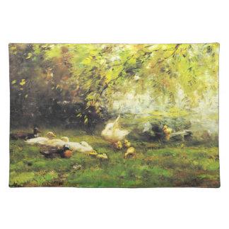 Willem Maris - Duck heaven Cloth Placemat