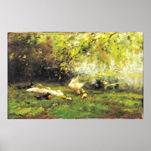 Willem Maris - Duck heaven Poster