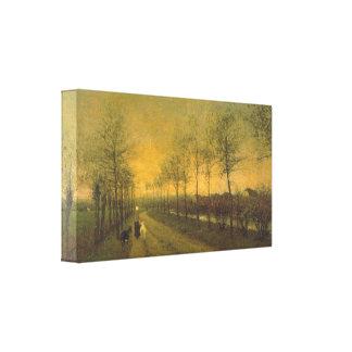 Willem Maris - Dusk Canvas Print