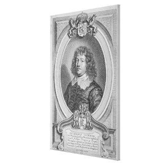 Willem Ripperda (1600-69) from 'Portraits des Homm Canvas Print