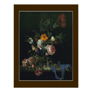 Willem van Aelst,'Flowers and a Watch ' Posters