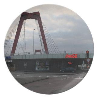 Willemsbrug, Rotterdam Melamine Plate
