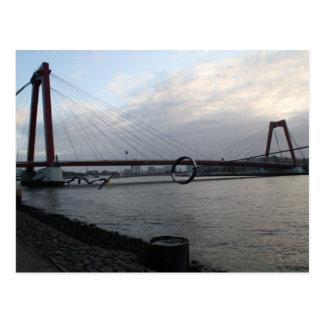 Willemsbrug, Rotterdam Postcard