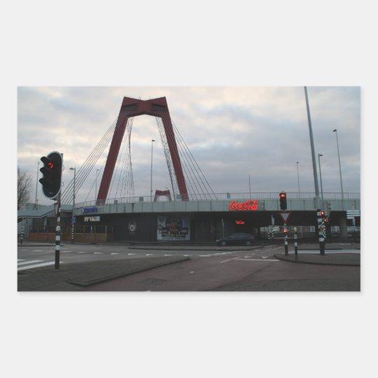 Willemsbrug, Rotterdam Rectangular Sticker