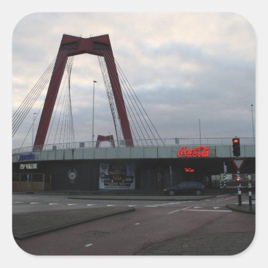 Willemsbrug, Rotterdam Square Sticker