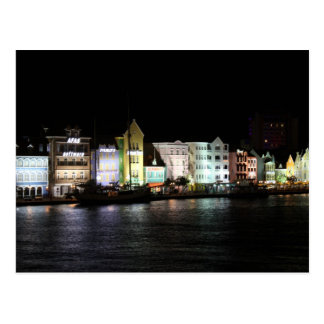 Willemstad Curacao at Night Postcard