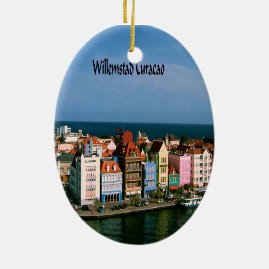 Willemstad Curacao Ceramic Ornament