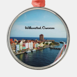 Willemstad Curaçao Adorno Redondo Plateado