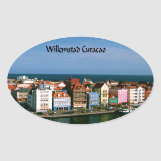 Willemstad Curacao Oval Sticker
