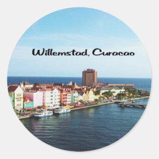Willemstad Curaçao Pegatina Redonda