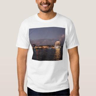 Willemstad Curacao - Queen Juliana Bridge at Night Tee Shirts