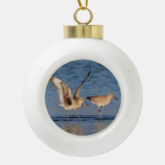 Willet Ceramic Ball Christmas Ornament