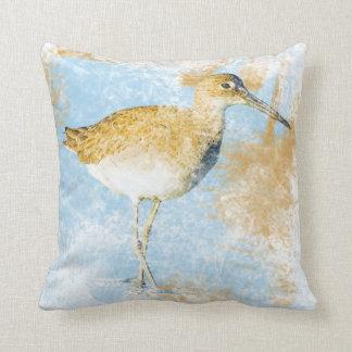 Willet Shorebird | Beach & Coastal Living Throw Pillow