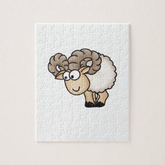 Willi el espolón - aries - ovejas masculinas - Mou Puzzles Con Fotos