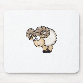 Willi el espolón - aries - ovejas masculinas - Mou Alfombrillas De Ratones