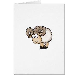 Willi el espolón - aries - ovejas masculinas - Mou Felicitación