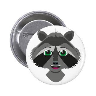 Willi raccoon - button