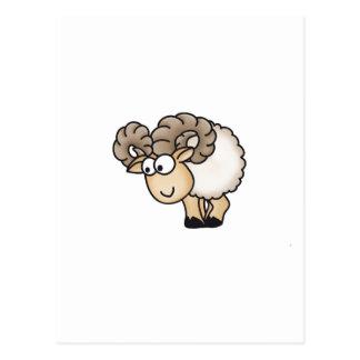 Willi the Ram - Aries - Male Sheep - Mouflon Postcard