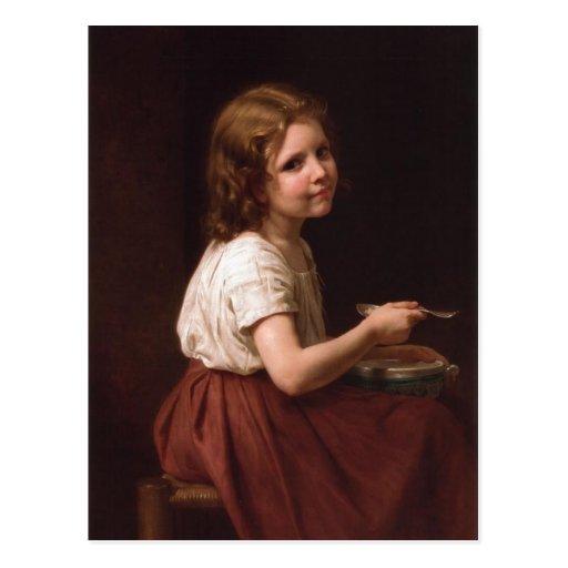 William-Adolphe Bouguereau (1825-1905) - Soup (186 Post Card